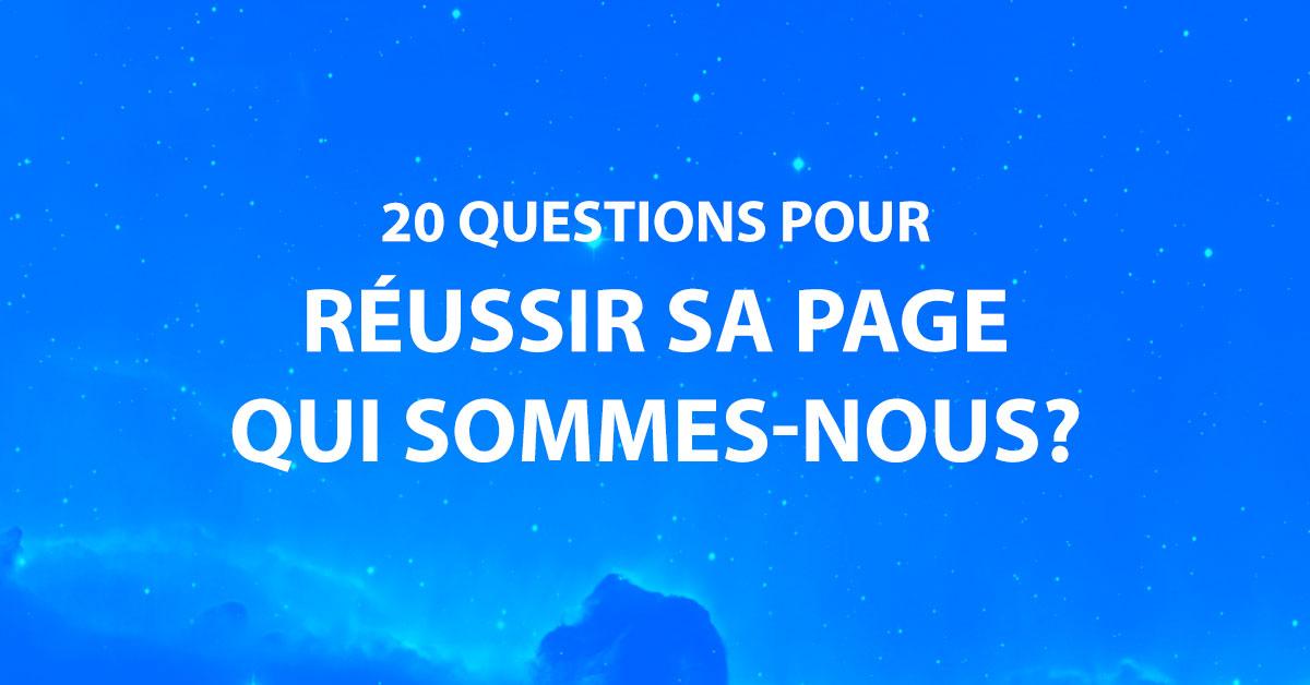 20 questions pour réussir la page «Qui Sommes-Nous» de son site web image